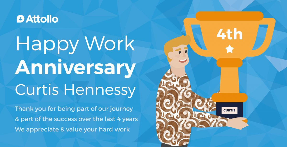 Happy Work Anniversary to Curtis Hennessy!