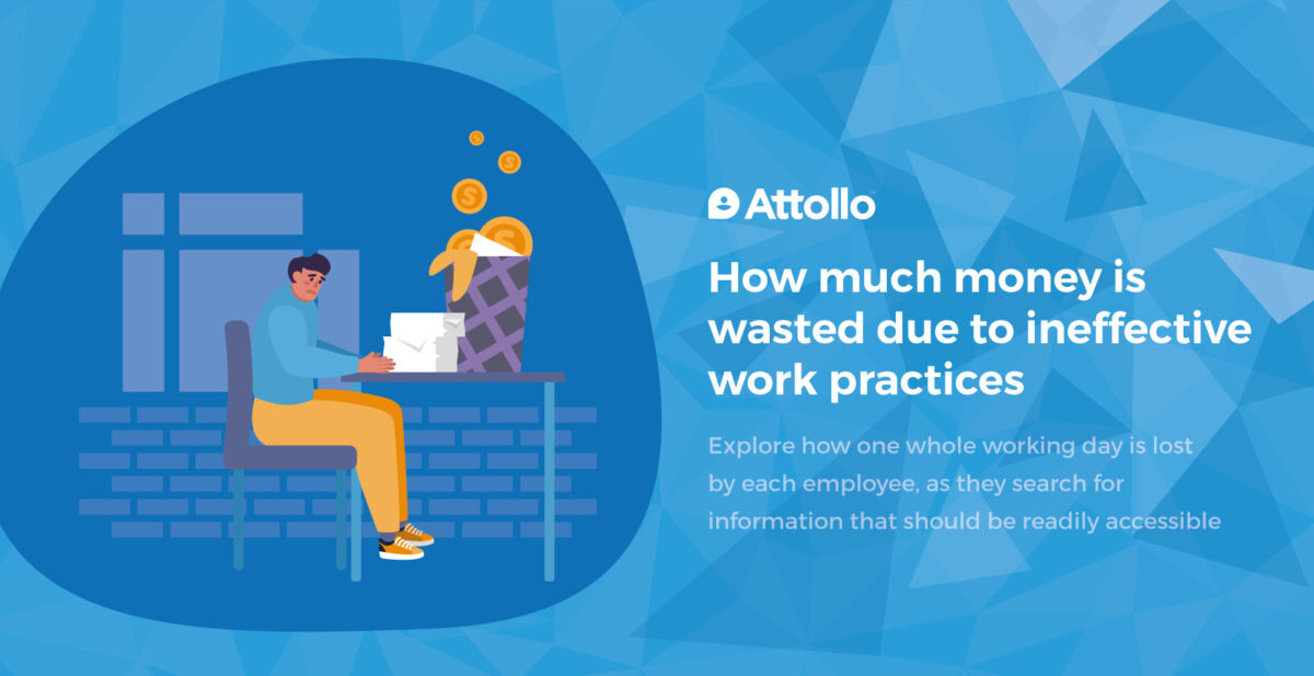 How much money is wasted due to ineffective work practices?