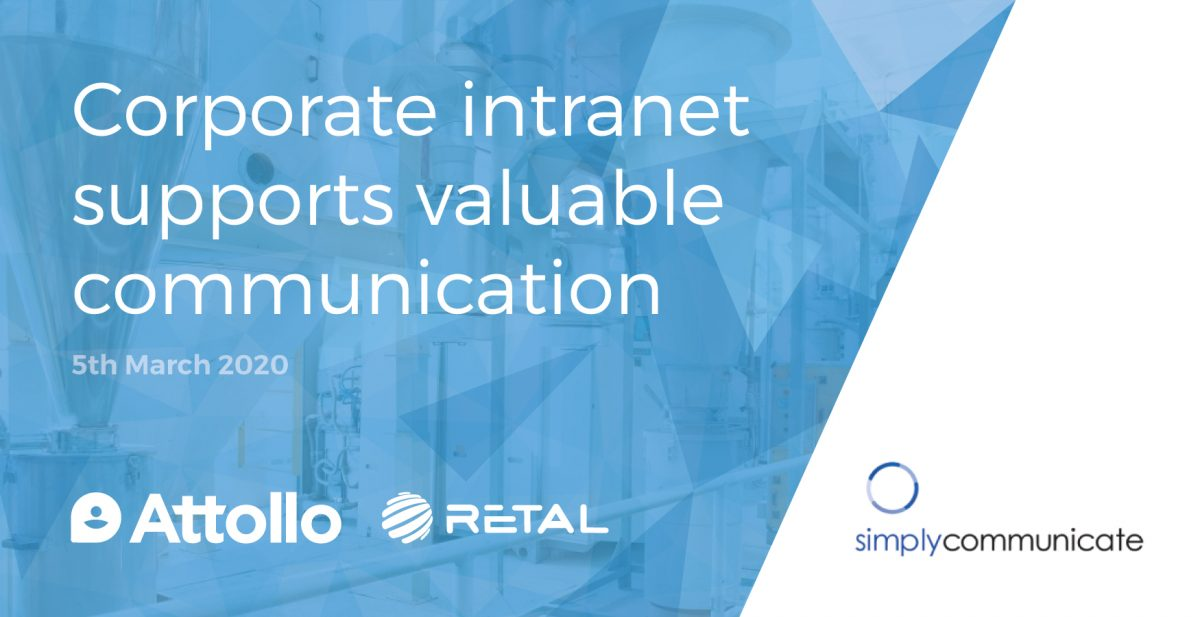 Corporate intranet supports valuable communication